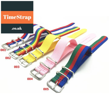 Nato Strap LGBT/Summer/Multicolour Selection 20mm TimeStrap 001 / 20mm
