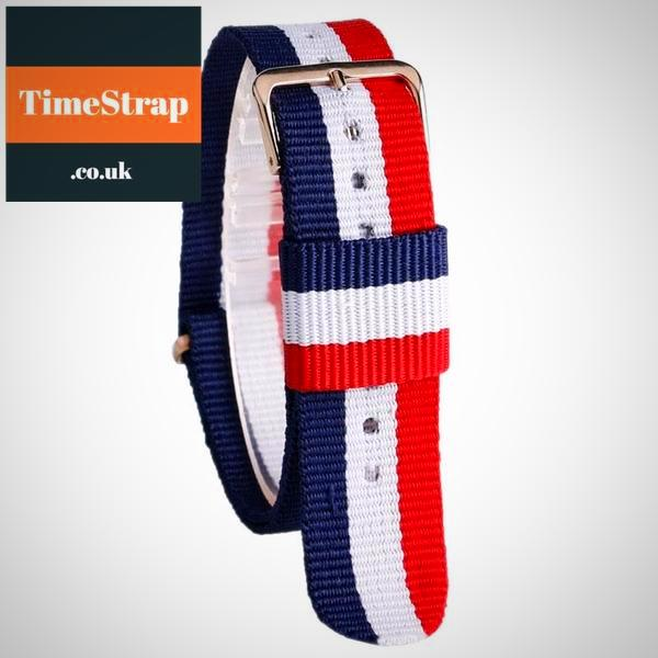 Nato Strap USM-1 Blue/White/Red 20mm TimeStrap