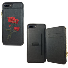 Magnet Zip Wallet Case for iPhone 7/8