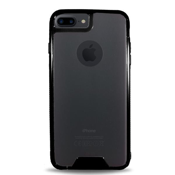 Hard Clear Back Colored Bumper Apple iPhone Case - Black