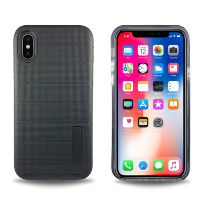 Clear Dual Layer Armor Case for iPhone X - Black