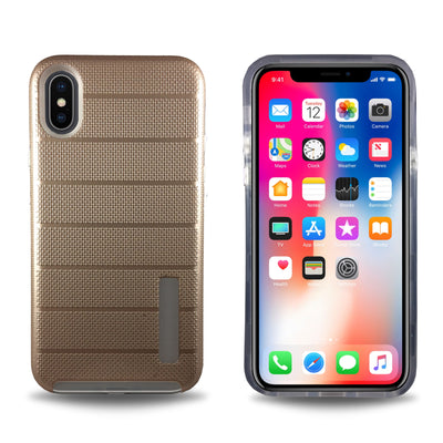 Clear Dual Layer Armor Case for iPhone X - Rose Gold