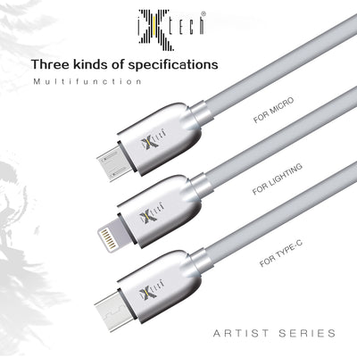 i-Xtech Artist Series Metal Charging and Data Cable