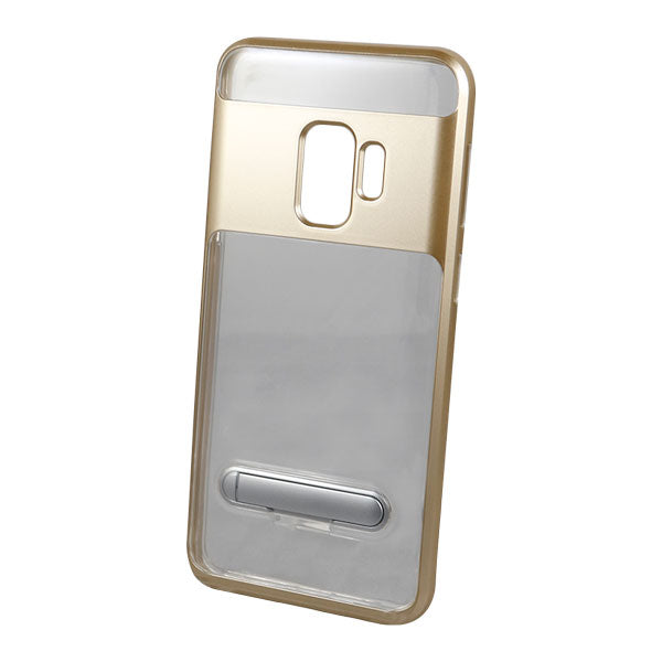 Clear Kickstand Colored Frame Samsung S9+ Case - Gold