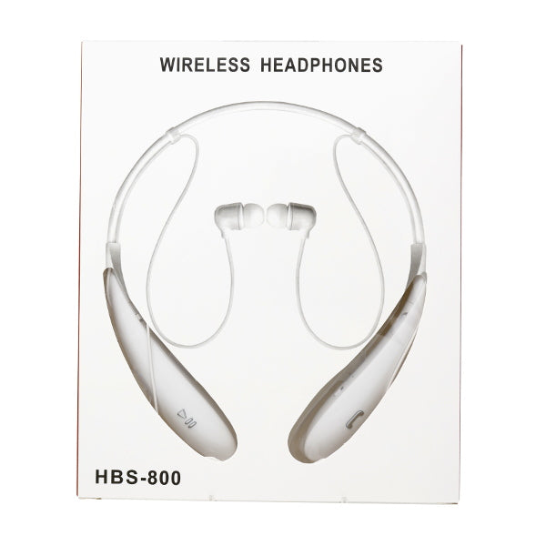 HBS Over Neck Bluetooth Earphone w/ Microphone