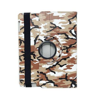Camouflage 360 Degree Stylish Rotating Apple iPad 3 Case - Brown