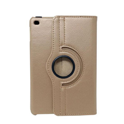 360 Degree Rotatable Folio Shiny iPad Mini 1/2/3 Case - Gold