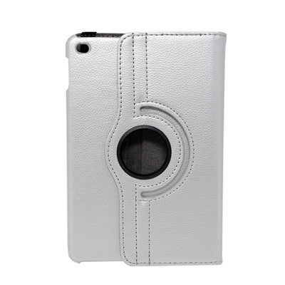 360 Degree Rotatable Folio Shiny iPad Mini 1/2/3 Case - Silver