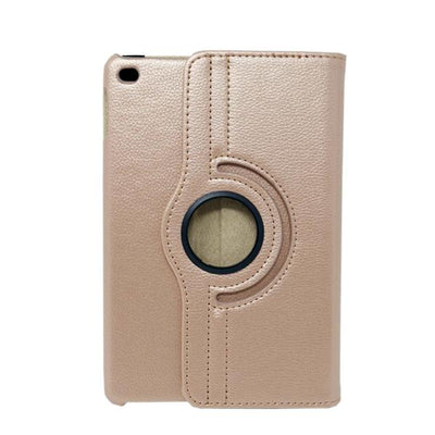 360 Degree Rotatable Folio Shiny iPad Mini 4 Case - Rose Gold