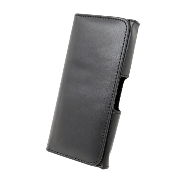 Black Leather Belt Holster/ Pouch iPhone Case