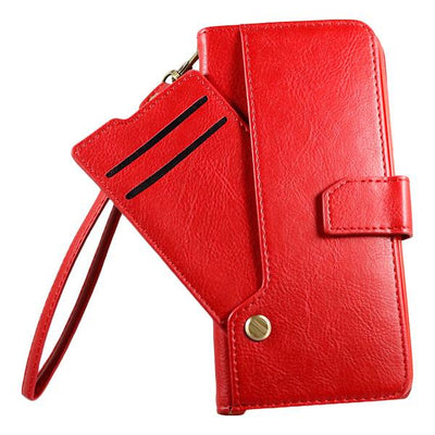 Wallet Drop Down Card Pocket Samsung S9+ Case - Red