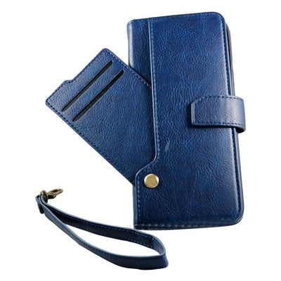 Wallet Drop Down Card Pocket Samsung S9 Case - Navy