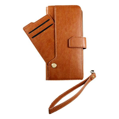 Wallet Drop Down Card Pocket Samsung S9+ Case - Brown
