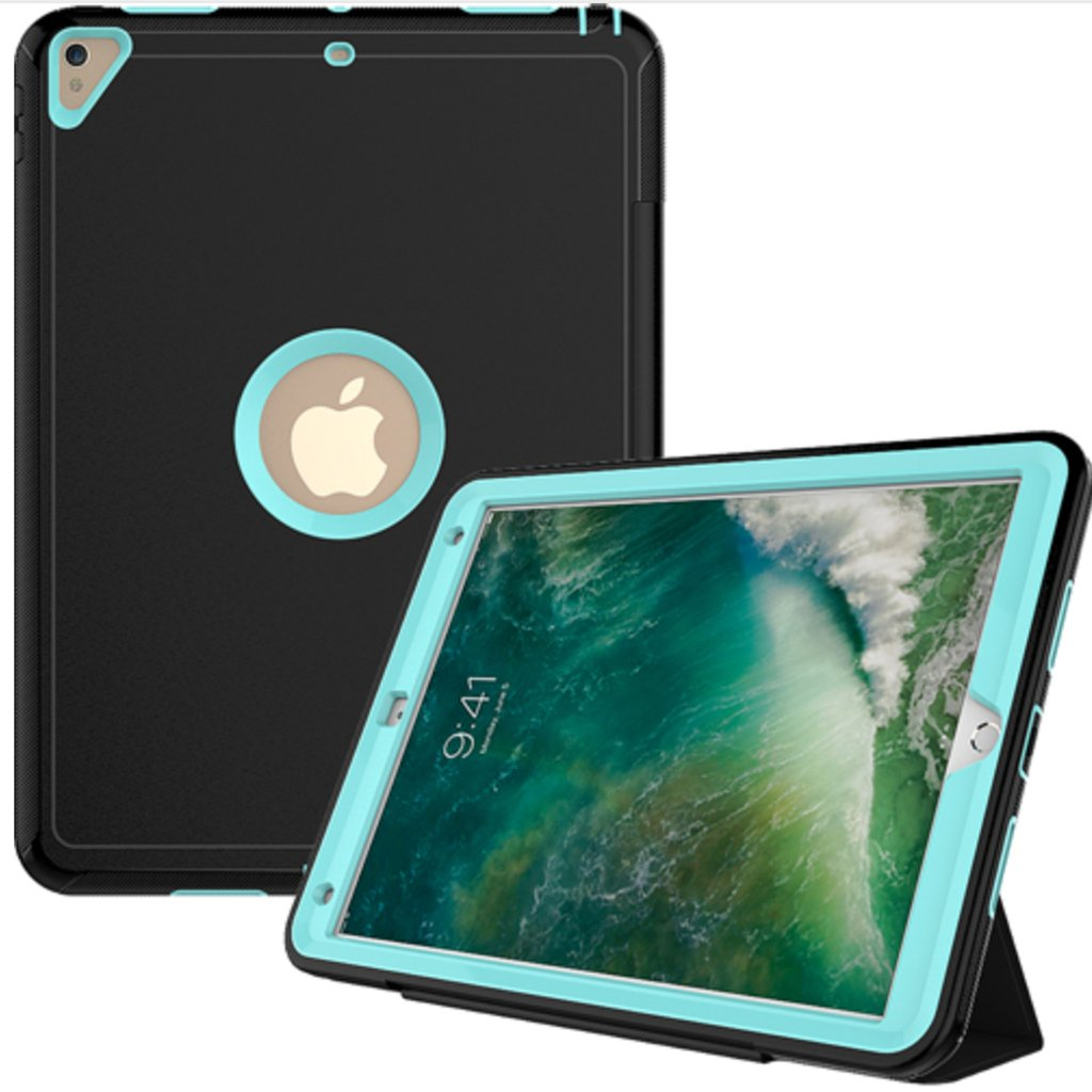 Matte Defender w/ Flip Apple iPad Air 2 Cases - Teal