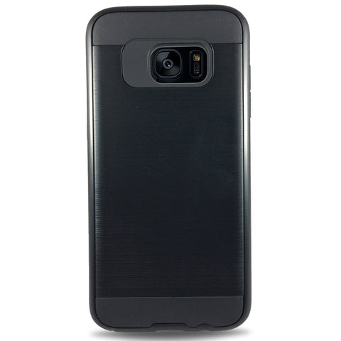 J & J Case for Samsung S7 Edge - Black