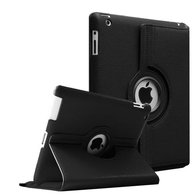 Regular 360 Degree Rotating Folio Apple iPad Air 1/2 Cases - Black