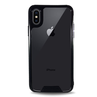 Colored Plate Hard Bumper Case for iPhone X - Black