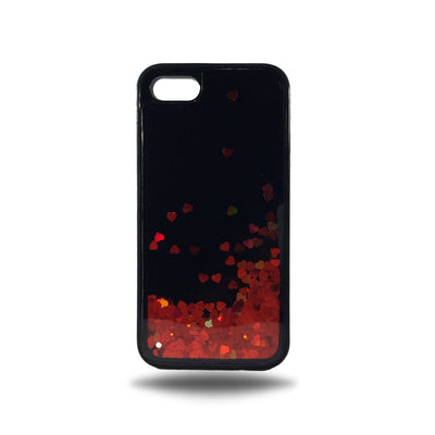 Heart Glitter Liquid Case for Iphone 6 / 6S - Red