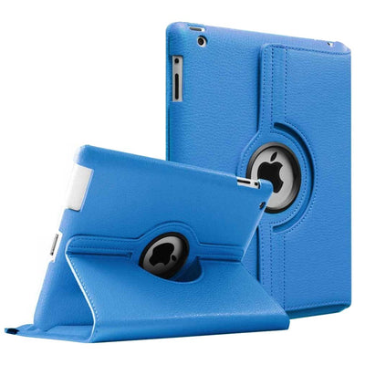 Regular 360 Degree Rotating Folio Apple iPad Air 1/2 Cases - Blue