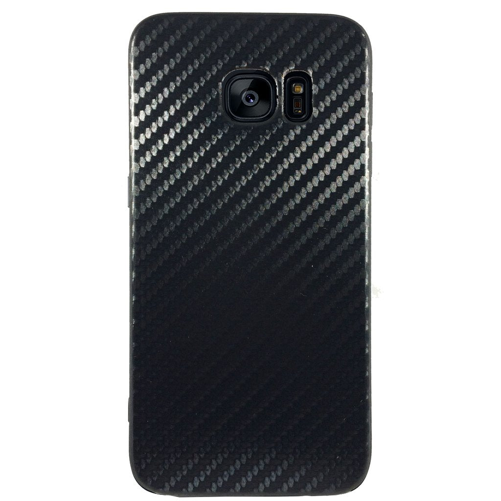 Carbon Fiber Case for Samsung S6 Edge Plus - Black