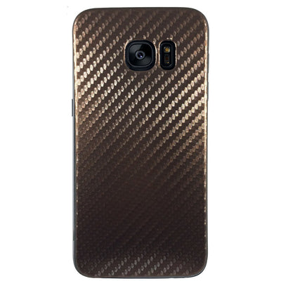 Carbon Fiber Case for Samsung S6 Edge - Brown