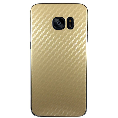Carbon Fiber Case for Samsung S6 Edge Plus - Gold