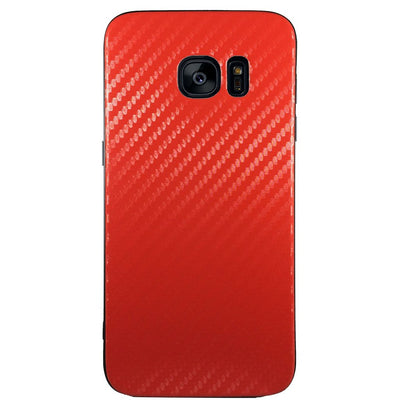 Carbon Fiber Case for Samsung S6 Edge - Red