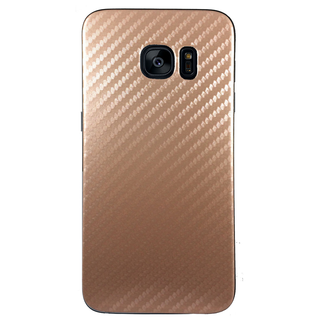 Carbon Fiber Case for Samsung S6 Edge - Rose Gold