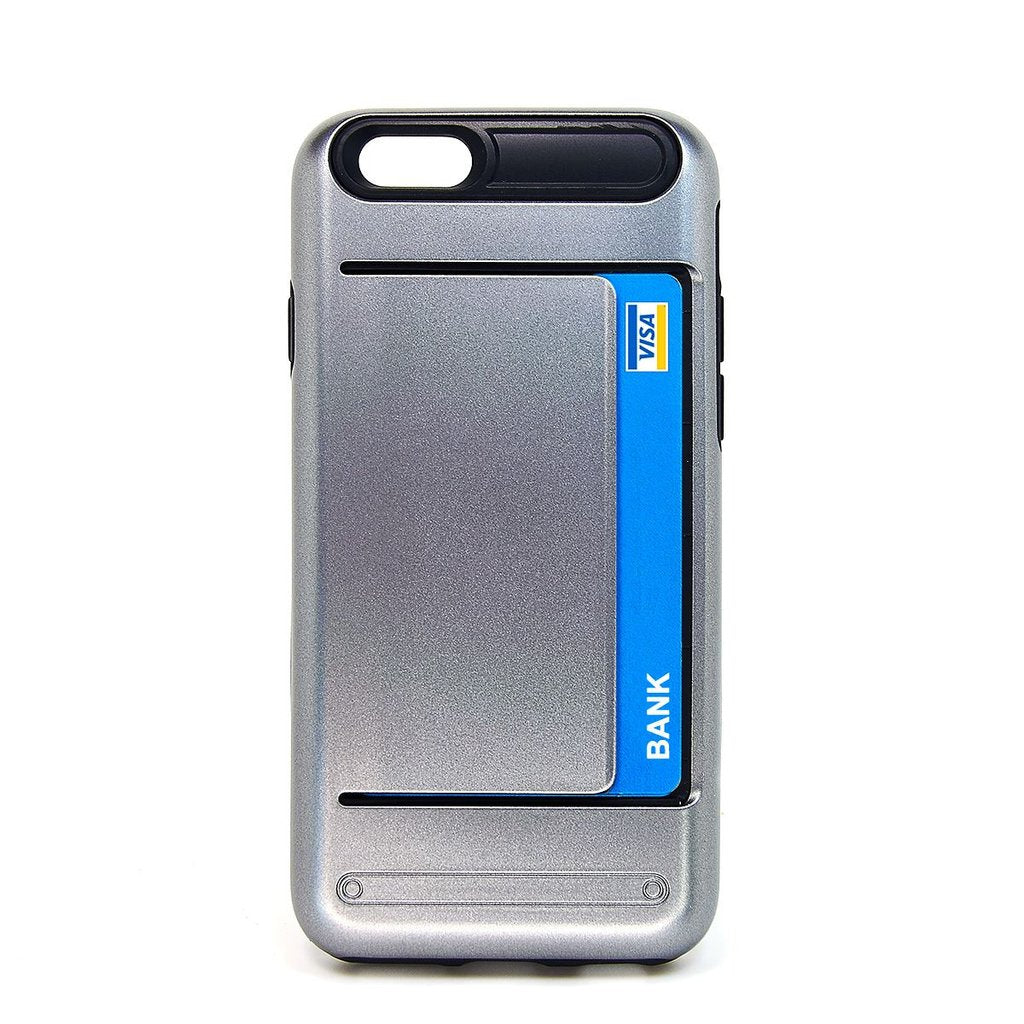 Card Clip Case Apple iPhone Case - Gray