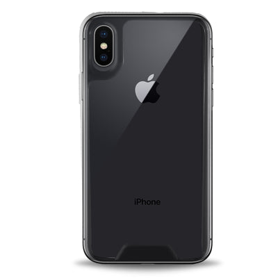 Colored Plate Hard Bumper Case for iPhone X - Clear