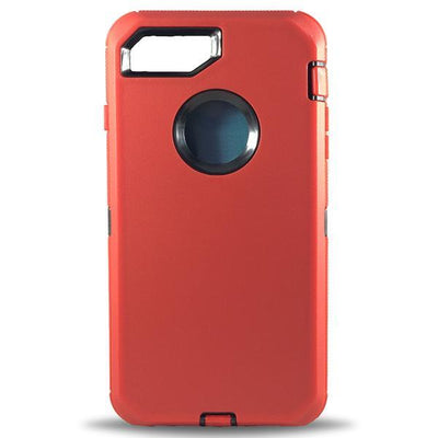 Matte Defender Apple iPhone 8 Plus/7 Plus Cases - Red/Black