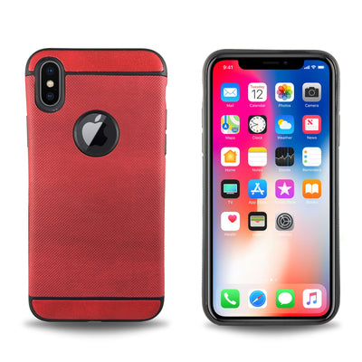 Denim Case for iPhone X - Red