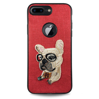Pet Lazy Dog Case for iPhone 7 & 8 - Red