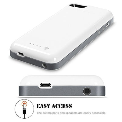 Sara Battery Case for iPhone 5/5S/SE 2500 mAh