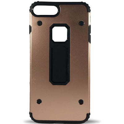 Rugged 4 Dot Apple iPhone 8 Plus/7 Plus Case - Rose Gold