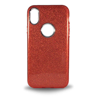 Glitter Case for iPhone X - Red
