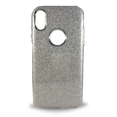 Glitter Case for iPhone X - Silver