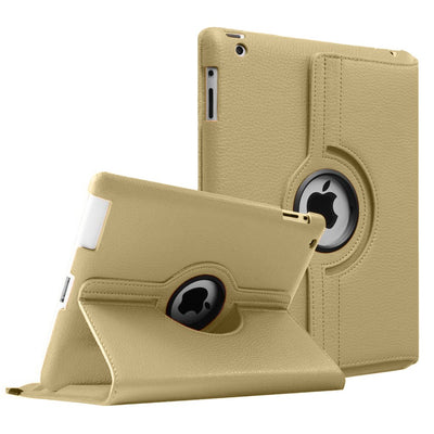 Regular 360 Degree Rotating Folio Apple iPad Air 1/2 Cases - Gold