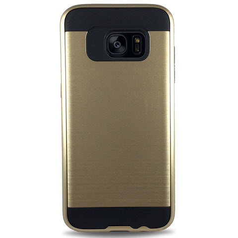 J & J Case for Samsung S7 Edge - Gold