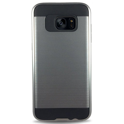 J & J Case for Samsung S7 Edge - Grey