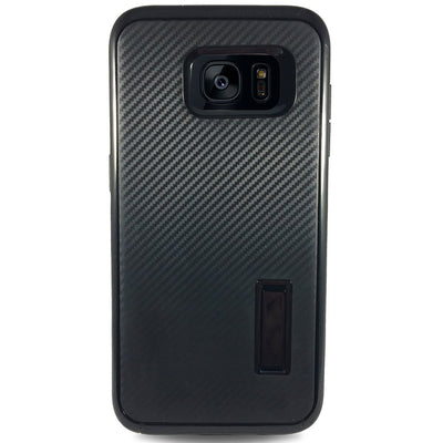Carbon Kick Stand Samsung Galaxy S6 Cases -Black