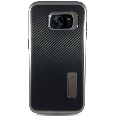 Carbon Kick Stand Samsung Galaxy S7 Cases - Grey