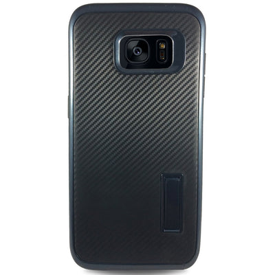 Carbon Kick Stand Samsung Galaxy S7 Edge Cases - Navy