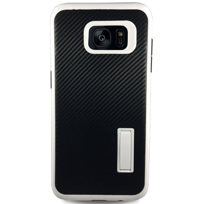 Carbon Kick Stand Samsung Galaxy S7 Edge Cases - White