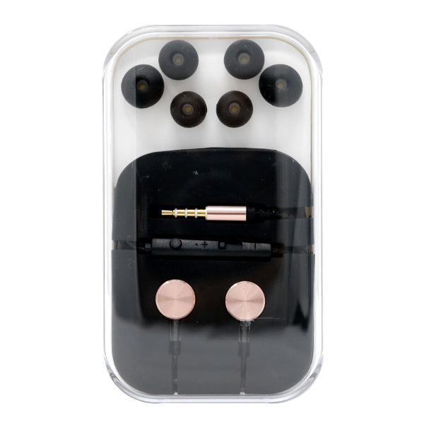 M3 Wire 3.5 mm Aux Output Metal Earphone / Microphone