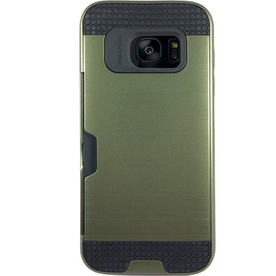 Mega Card Case for Samsung S6 Edge - Navy Green