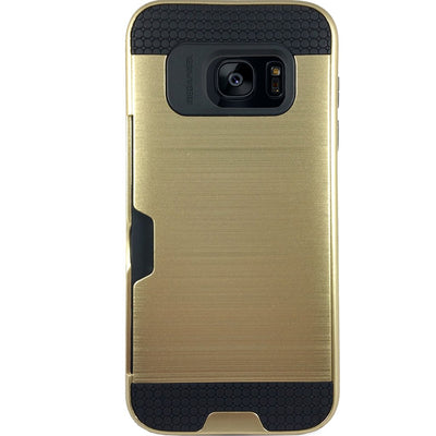 Mega Card Case for Samsung S6 Edge - Gold