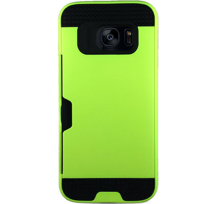 Mega Card Case for Samsung S6 Edge - Green