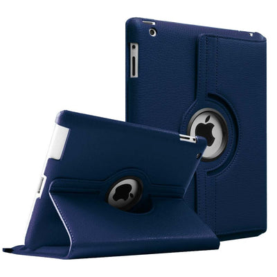 Regular 360 Degree Rotating Folio Apple iPad Air 1/2 Cases - Navy