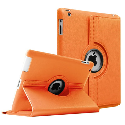 Regular 360 Degree Rotating Folio Apple iPad Air 1/2 Cases - Orange